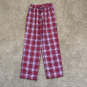 GAP kids pink and red flannel pajama pants